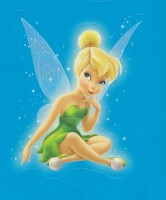 Flitterific Sticker Book - Blue Stars - Tinker Bell - Sitting