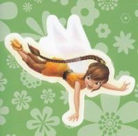 Flitterific Sticker Book - Green Flowers - Fawn - Dive