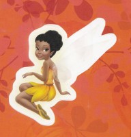 Flitterific Sticker Book - Orange Leaves - Iridessa - Sitting