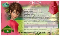Pixie Hollow Games Trading Cards - Chloe 02