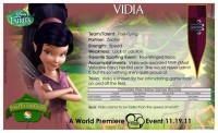 Pixie Hollow Games Trading Cards - Vidia 02