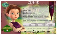 Pixie Hollow Games Trading Cards - Zephyr 02