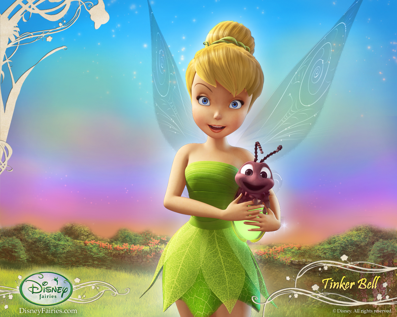 Wallpaper Tinker Bell Summer